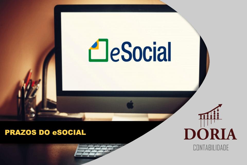 Prazos do eSocial: confira as mudanças e o novo cronograma!